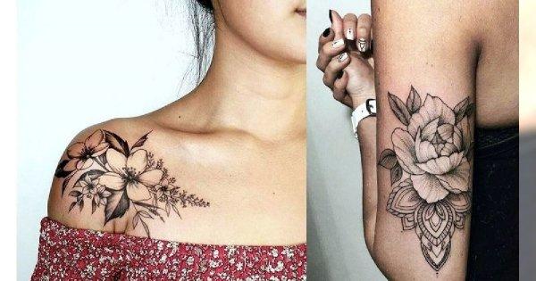 Tatuaże kwiaty - galeria ślicznych wzorów, które Cię urzekną
