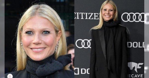 """Gwyneth Paltrow na premierze """"Avengersów"""" postawiła na ryzykowną stylizację. Góra elegancka, za to dół... UPS!"""