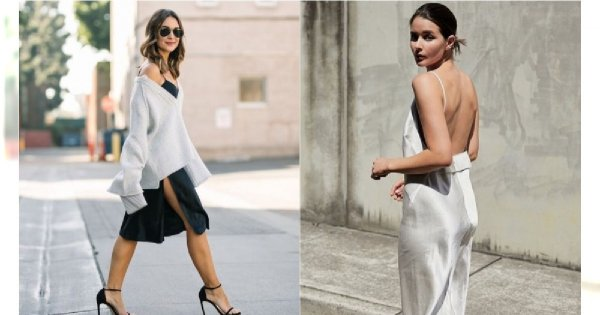 Slip dress: Bieliźniana sukienka - must have na wiosnę i lato 2019!