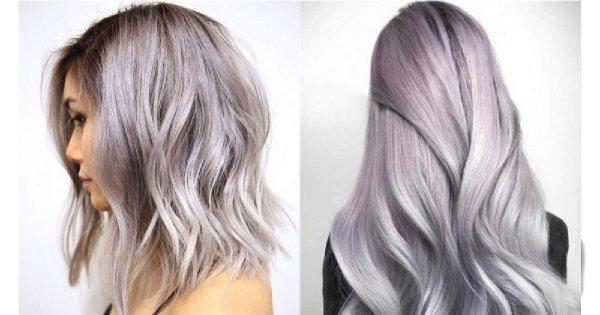 Lavender gray - nowy modny kolor włosów na wiosnę [trendy wiosna-lato 2019]