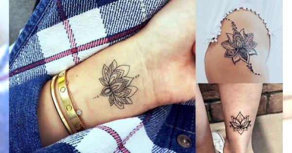 Kwiat lotosu - 21 niezwykle kobiecych tatuaży, które Cię urzekną