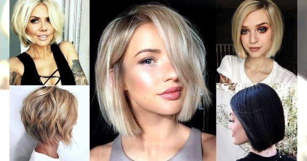 Short bob w nowoczesnych odsłonach - galeria kobiecych fryzur na wiosnę i lato 2019
