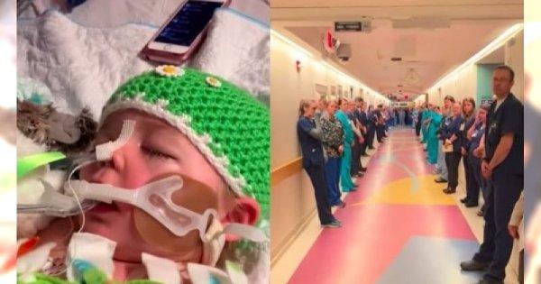 Dla tego dziecka pracownicy szpitala ustawili się w honorowy szpaler. Umierająca dziewczynka uratowała dwoje dzieci i dorosłą kobietę