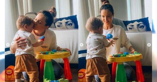 Marina Łuczenko-Szczęsna z okazji dnia dziecka zamieściła nowe zdjęcia Liama. Widać więcej niż zwykle!