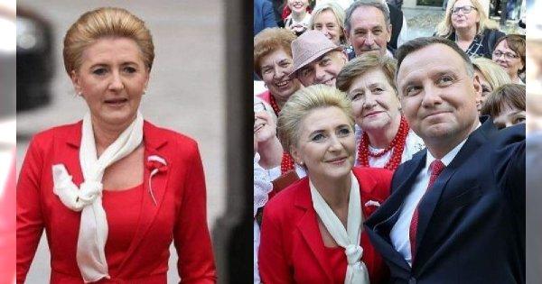 Agata Duda na obchodach Dnia Flagi. Znany fanpage: Fryzjer i stylista ją skrzywdzili. Faktycznie było tak źle?