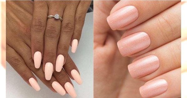 Modne paznokcie 2019: Brzoskwiniowy manicure - nowa odsłona paznokci w odcieniach nude