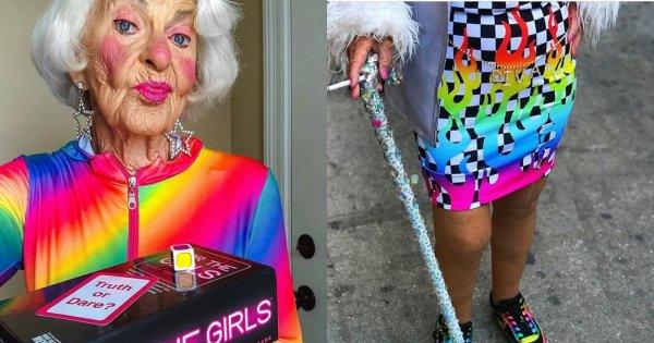 Ta babcia z Instagrama ma 90 lat. Lubi skąpe stroje i marihuanę. Obserwują ją największe, światowe gwiazdy
