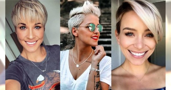 Top 30 fryzur pixie i undercut dla blondynek