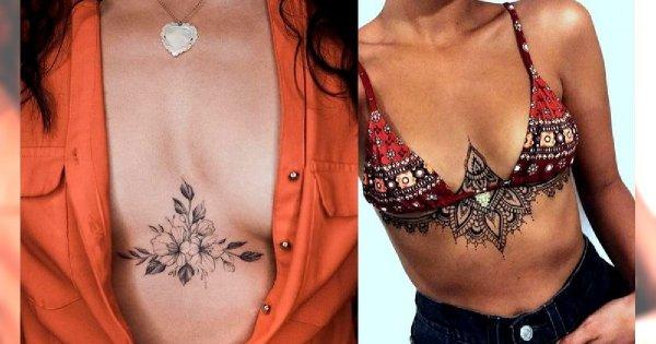 Tatuaże na dekolcie i ramieniu - galeria najpiękniejszych wzorów