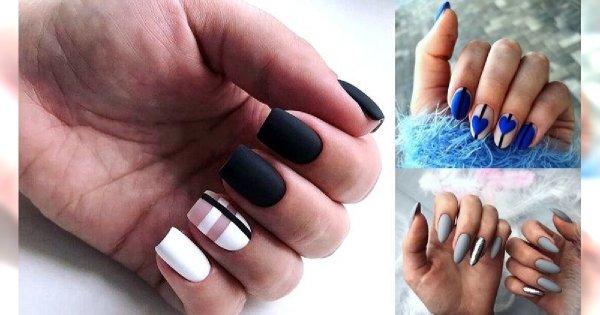 Matowy manicure - galeria niebanalnych i modnych stylizacji
