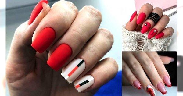 30 pomysłów na czerwony manicure - galeria stylowych zdobień