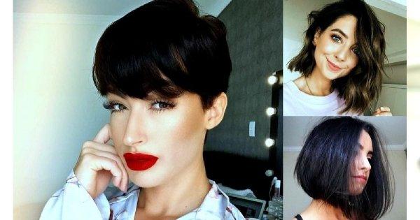 35 pomysłów na fryzurę dla brunetek i szatynek - włosy krótkie i półdługie
