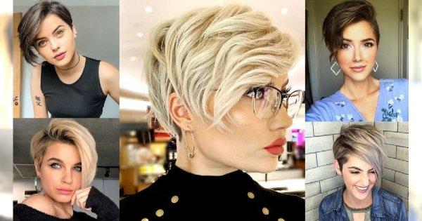 Krótkie włosy z grzywką na bok – galeria ultramodnych fryzur