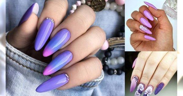 Fioletowy manicure - galeria ślicznych zdobień, które robią wrażenie
