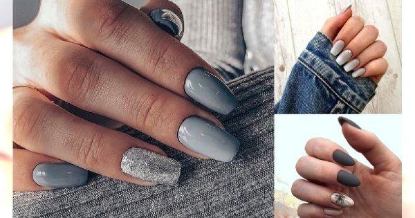 Szary manicure w najbardziej stylowych odsłonach - galeria ciekawych stylizacji
