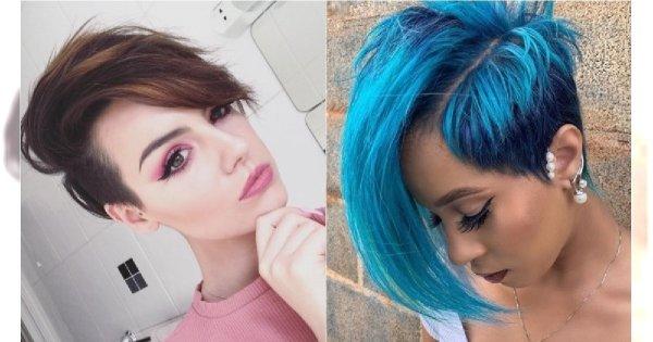 Krótkie fryzury z grzywką - nowe, modne cięcia włosów dla kobiet [HOT TRENDY 2019]