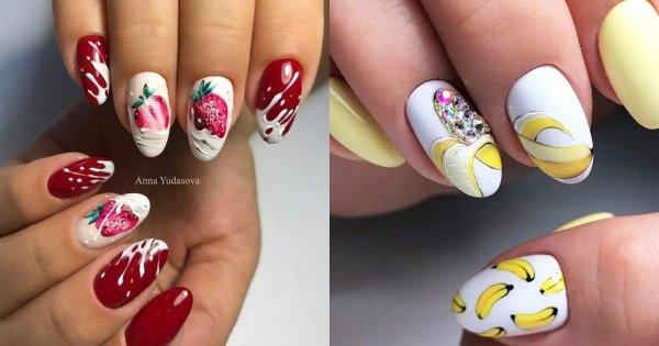 Manicure na lato 2019 - letnie paznokcie z owocami w roli głównej. Te wzory skradną Twoje serce!