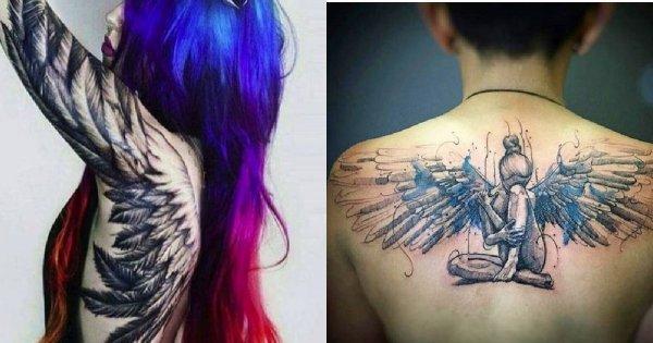 Tatuaż Anioł Znaczenie I Galeria Tatuaży Z Motywem Anioła