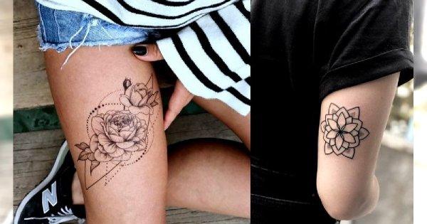 Geometryczne tatuaże - galeria minimalistycznych wzorów dla dziewczyn