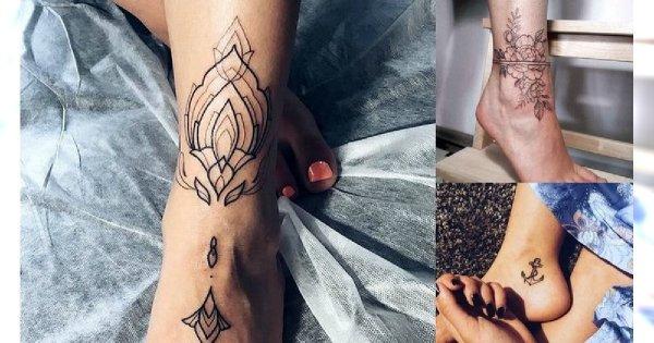 Tatuaż w okolicy kostki - 30 oryginalnych i pięknych wzorów