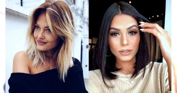Średnia długość włosów - galeria stylowych fryzur