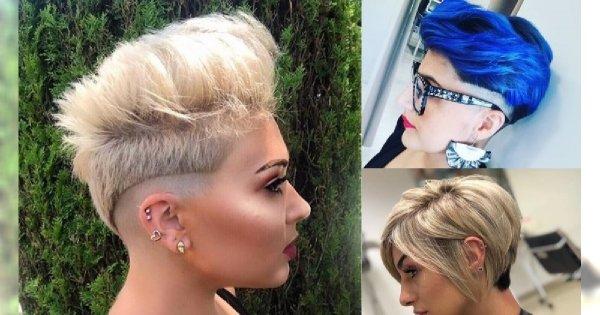 Krótkie fryzury damskie 2019. Modne cięcia włosów z grzywką, pixie i undercut