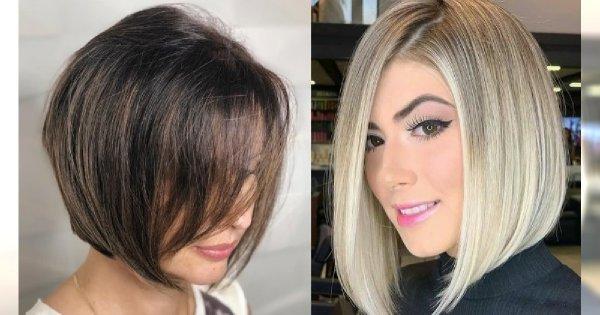 Fryzury damskie trendy 2019. Modne cięcia włosów średniej długości