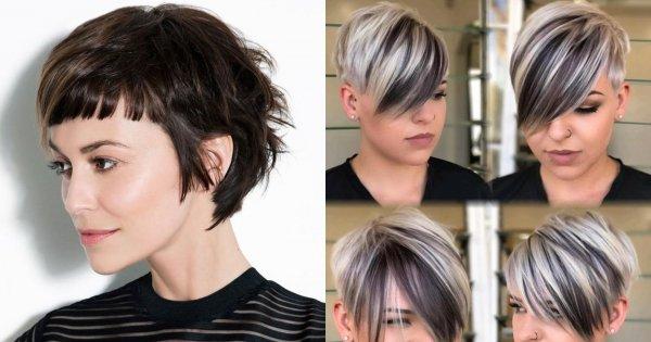 Krótkie fryzury z grzywką - 25 pomysłów na modne fryzury damskie
