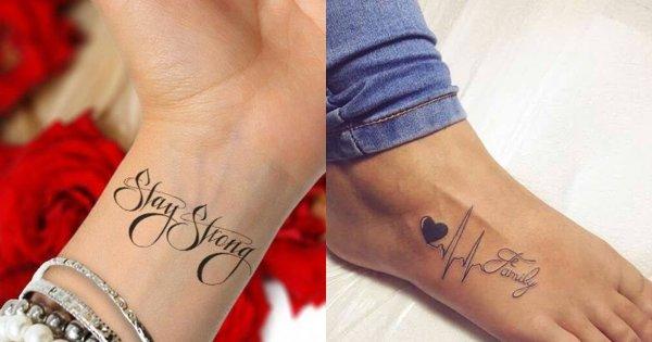 Wasze ulubione tatuaże: napisy na rękę, nadgarstek, kostkę, na ciało