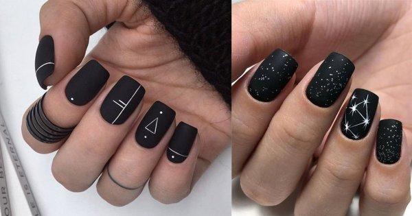 Czarne paznokcie - 20 pomysłów na ponadczasowy, czarny manicure!