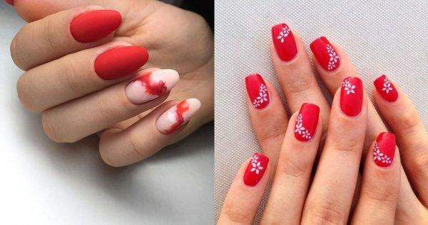 Czerwone paznokcie - 20 propozycji dla krótkich i długich paznokci