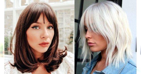 Półdługie fryzury z grzywką, które uwielbiamy - galeria najnowszych trendów