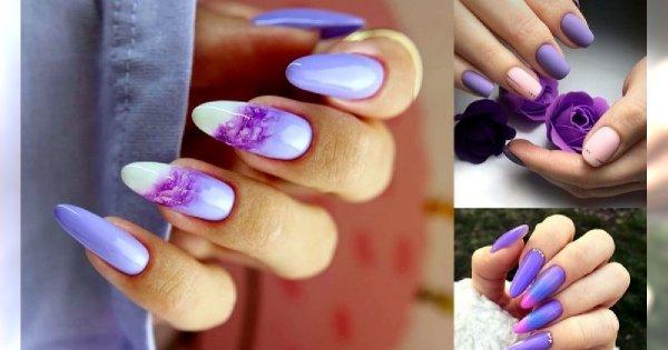 Fioletowy manicure - 20 unikatowych i mega stylowych zdobień