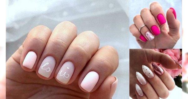 Różowy manicure - galeria ślicznych i oryginalnych zdobień