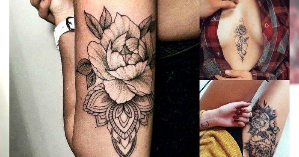 Tatuaże kwiaty - 25 ślicznych wzorów, które Cię urzekną