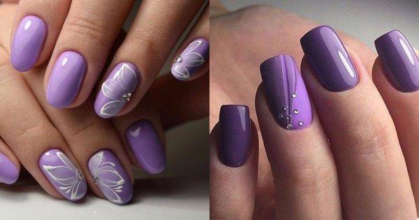 Fioletowe paznokcie - manicure, który nigdy nie wychodzi z mody