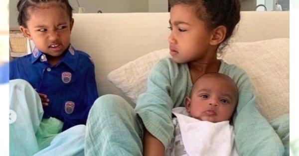 Kim Kardashian chciała pochwalić się dziećmi, ale zobaczcie tylko ich miny! PRZEZABAWNE!