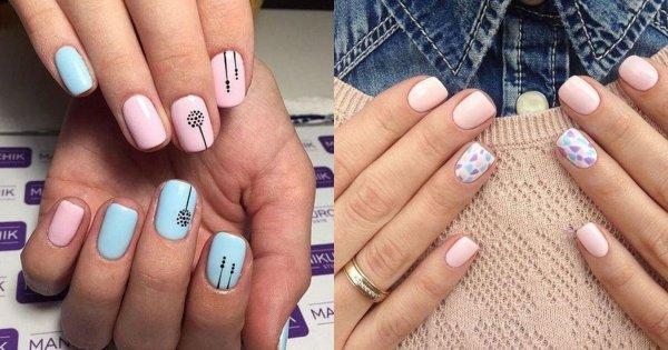 Krótkie paznokcie - galeria najmodniejszych wzorów. Trendy 2019/2020
