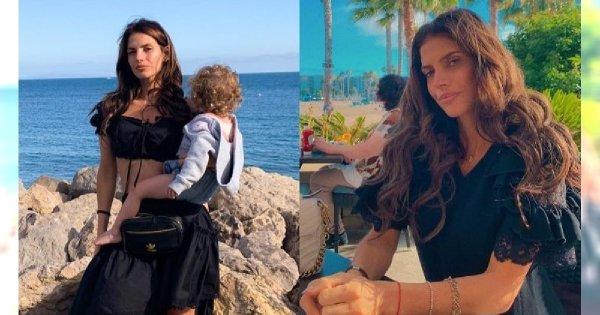 Weronika Rosati pozuje w ZŁOTYM BIKINI I z córeczką u boku. Figura WOW
