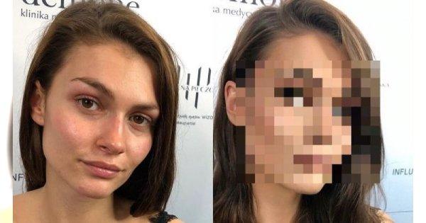 """Znana makijażystka pokazała to zdjęcie przed metamorfozą. Efekt po PORAŻA: """"Jak inna osoba"""""""