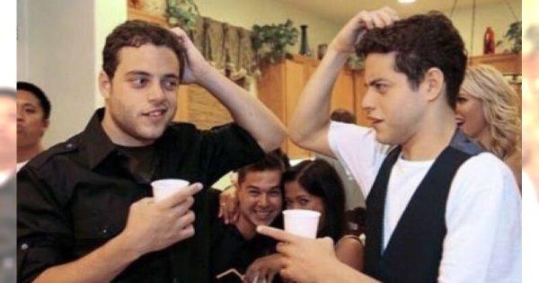 Rami Malek ma brata bliźniaka. Kiedyś byli podobni jak dwie krople wody! Potraficie ich rozróżnić?