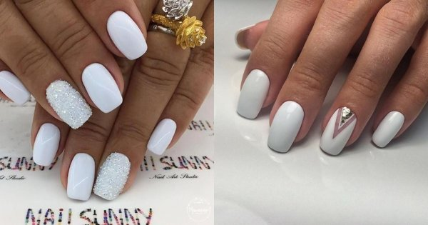 Białe paznokcie - manicure nie tylko na ślub. 20 modnych stylizacji