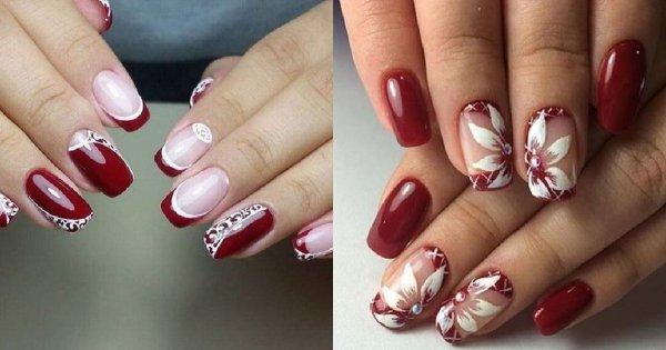 Bordowe paznokcie - 25 inspiracji na piękny, bordowy manicure!