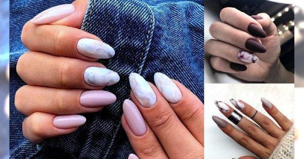 Najpiękniejsze zdobienia na jesień - marmurkowy manicure rządzi!