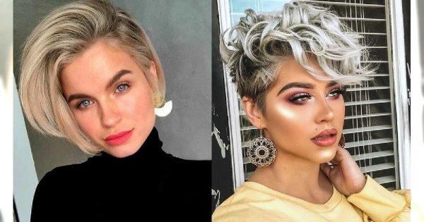 Krótkie fryzury - galeria zjawiskowych cięć dla kobiet o jasnych włosach