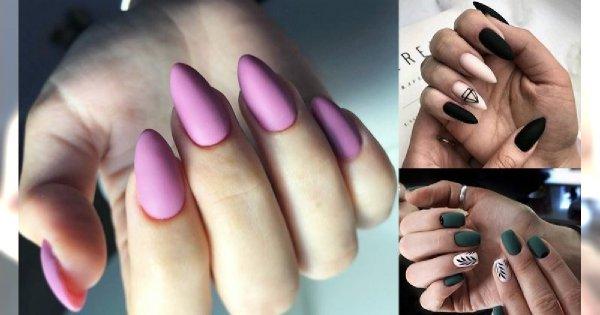 Matowy manicure 2019/2020 - przegląd ultramodnych stylizacji