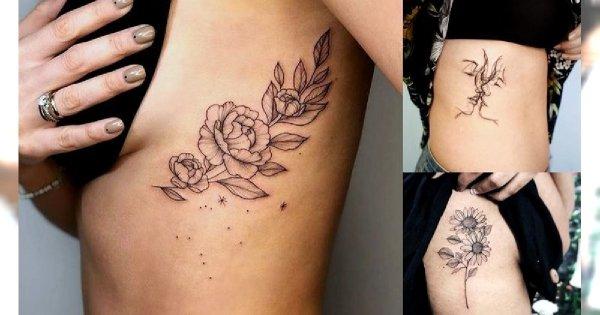 Tatuaże w okolicy żeber - galeria przepięknych i wyjątkowych propozycji