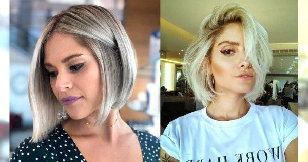 Włosy w pół szyi – galeria stylowych fryzur