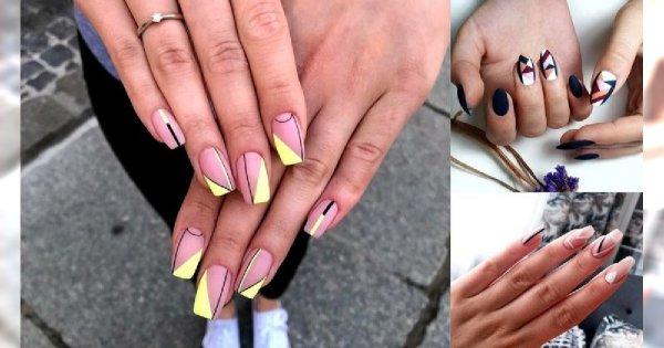 18 pomysłów na piękny i szykowny manicure z dodatkiem geometrycznych zdobień! [GALERIA]