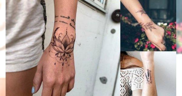 Tatuaż w okolicy nadgarstka - 20 dziewczęcych wzorów